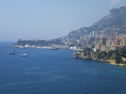 Blick auf Monaco - Monte Carlo -- Blick auf Monaco - Monte Carlo