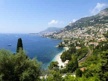 Monaco - Sicht auf Monte Carlo -- Monaco - Sicht auf Monte Carlo