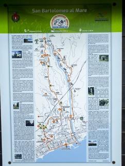 Karte von San Bartolomeo al Mare -- Strand und die Uferpromenade von San Bartolomeo al Mare in Nord Italien.