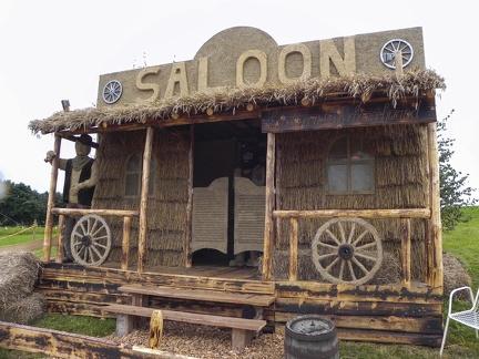 Saloon -- Der jährliche Strohpark von Höchenschwand in Baden Würtemberg, veranstaltet beim RWG Bauernmarkt.