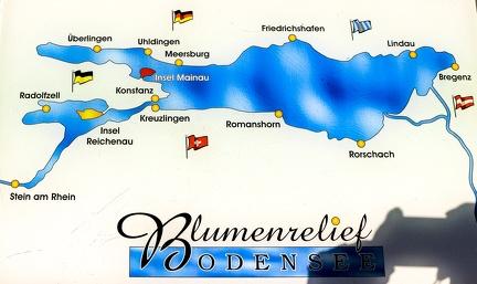 Bodensee als Karte -- Mainau - Der Bodensee als Überblick in Baden Würtemberg