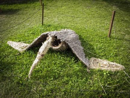 Dragon -- Der jährliche Strohpark mit Skulpturen aus Stroh in Schwenningen Heuberg.