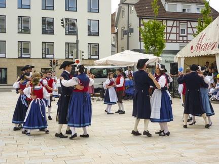 Tanz beim Landest 2015 -- Sigmaringen - Tanzgruppe beim Landesfest 2015 in Sigmaringen in Baden Würtemberg