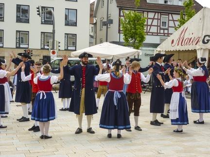 Tanzgruppe beim Landest 2015 -- Sigmaringen - Tanzgruppe beim Landesfest 2015 in Sigmaringen in Baden Würtemberg