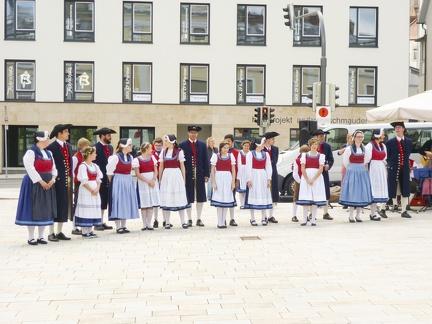 Tanzgruppe beim Landest 2015 -- Sigmaringen - Tanzgruppe beim Landesfest in Sigmaringen in Baden Würtemberg